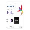 Paměťová karta 64GB microSDXC Adata + adaptér