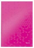 Záznamní kniha LEITZ WOW A4 růžová linkovaná