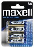 Baterie MAXELL alkalická AA 4ks