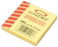 Bloček CONCORDE 75x75 mm 100 listů žlutý