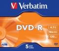 DVD-R Verbatim 4,7GB/16x 5-pack krabička